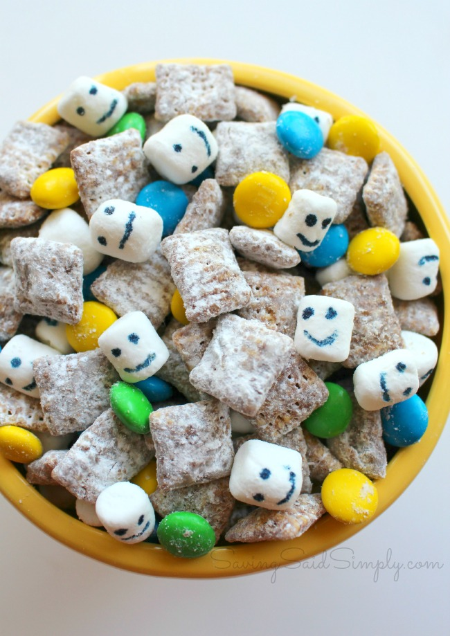 Frozen fever party snack mix recipe