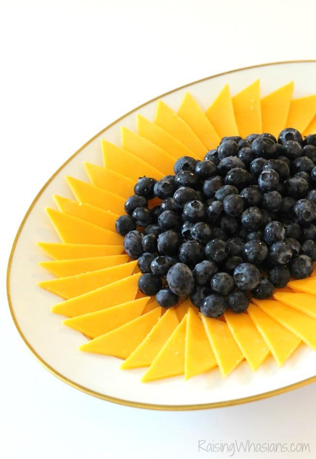 Frozen fever sunflower party snack