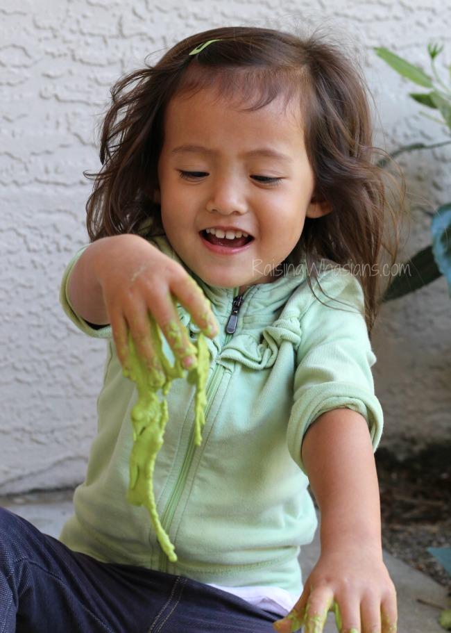 Homemade green slime allergy safe