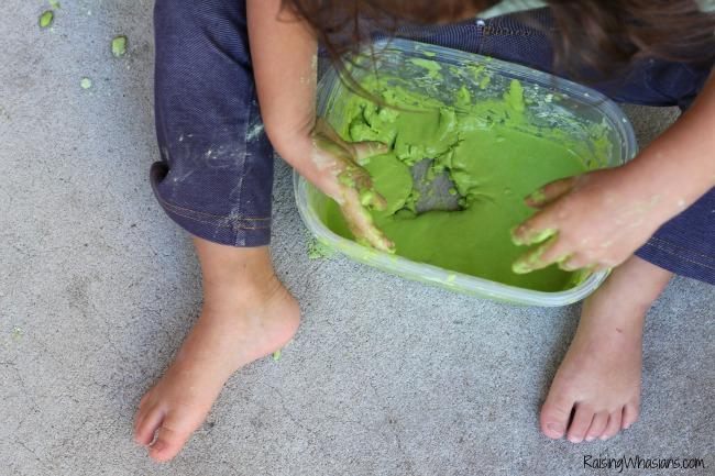 St. Patricks day kids craft slime
