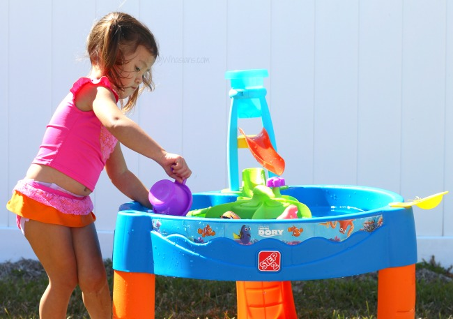 Step2 finding Dory whirlin waves water table review