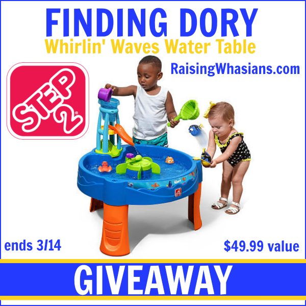 Step2 finding Dory water table giveaway
