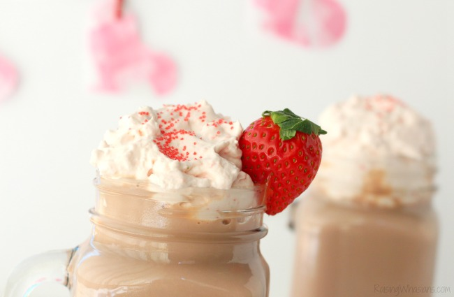Strawberry whipped cream hot chocolate
