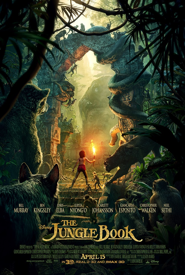 The jungle book trailer poster