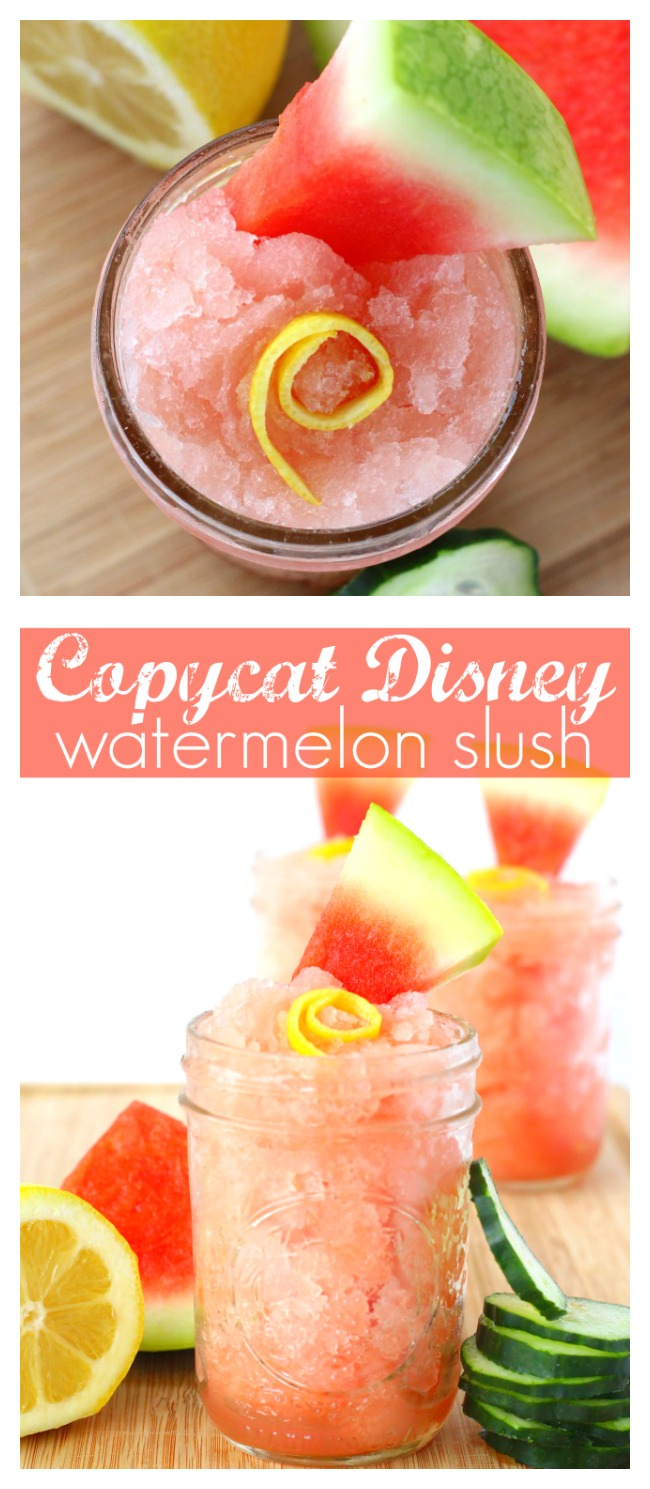 Copycat Disney watermelon slush pinterest