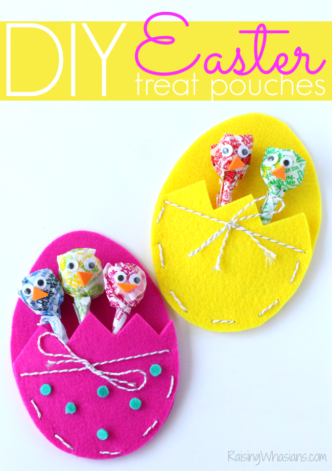 DIY Easter treat bags craft for kids