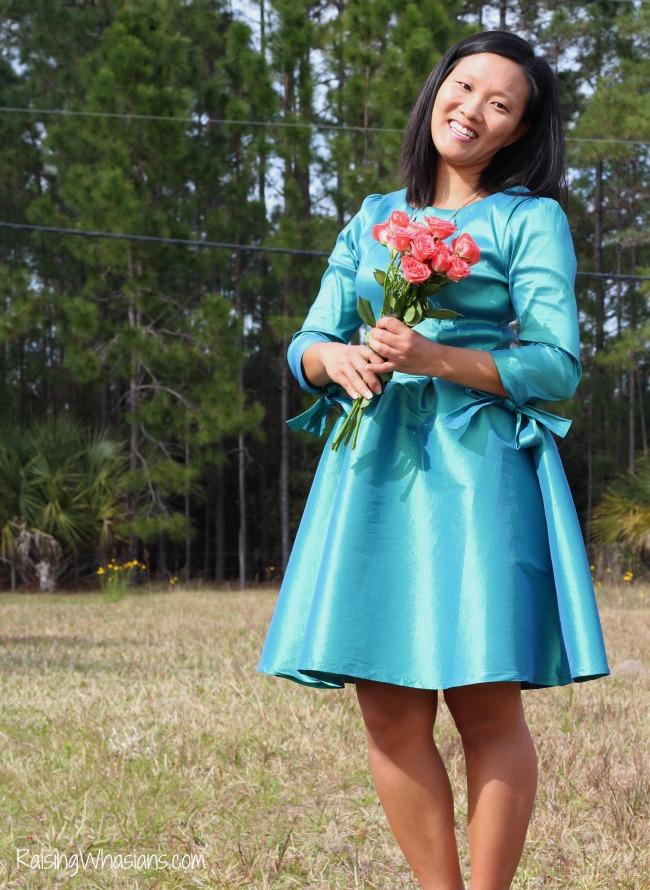 Flattering spring dress