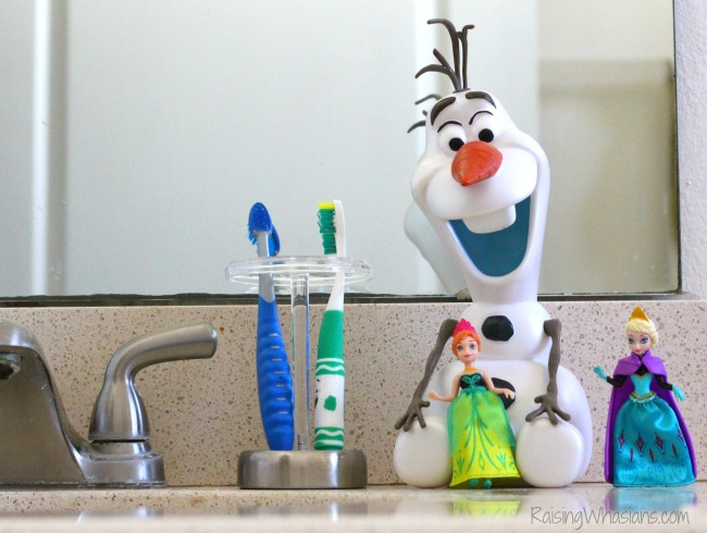 Disney frozen bathroom makeover with softsoap giveaway Disney bathroom ideas