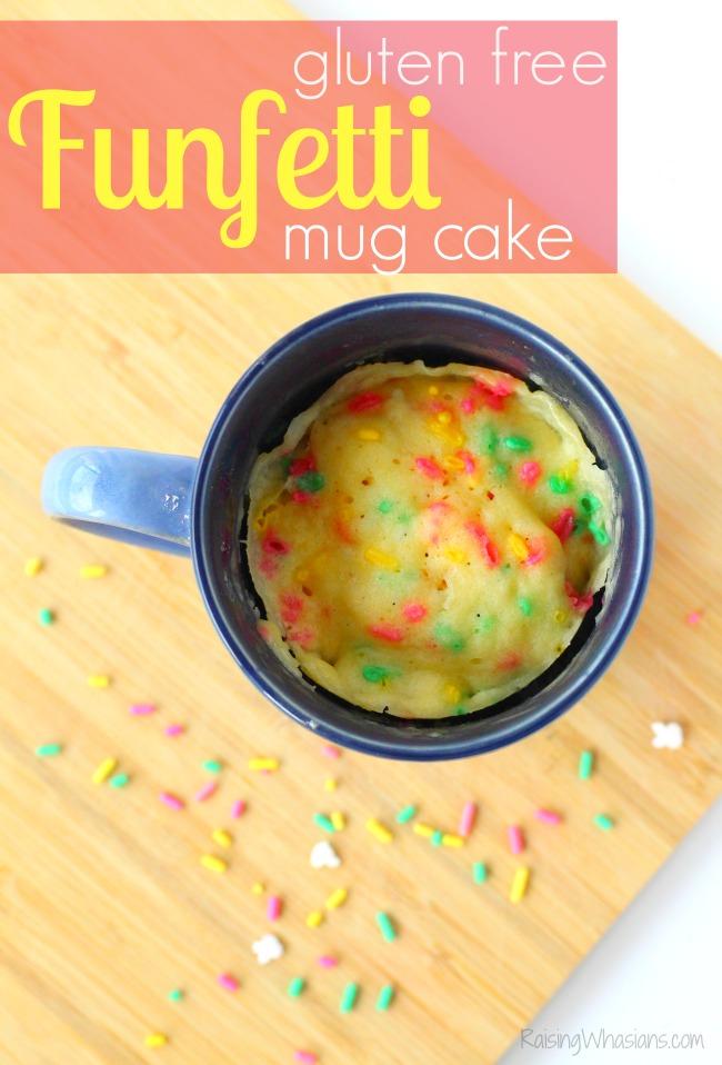 Gluten free funfetti mug cake recipe