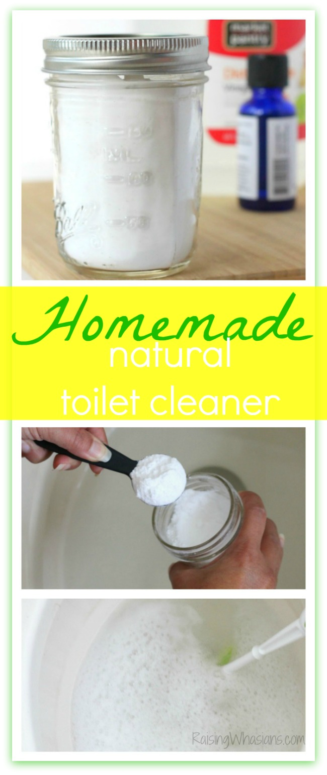 Homemade natural toilet cleaner