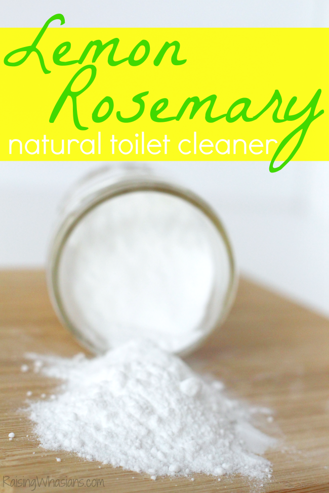 Easy Natural Toilet Cleaner + 6 Bathroom Toilet Cleaning Tips | DIY Lemon Rosemary Natural Toilet Bowl Cleaner + 6 tips for spring cleaning your toilet #Cleaning #DIY