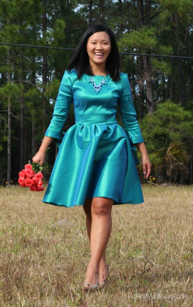 SPring bridesmaid dress shabby apple
