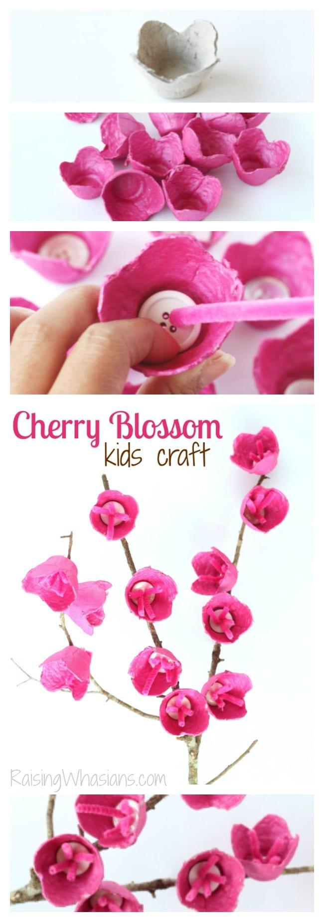 Cherry blossom craft pinterest
