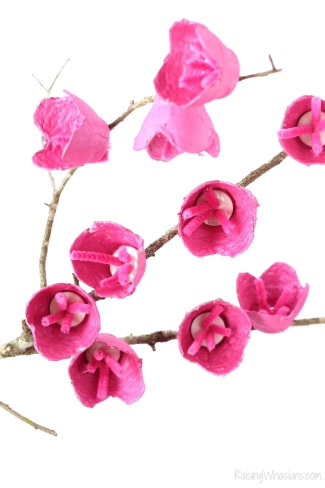 Cherry blossom tree craft