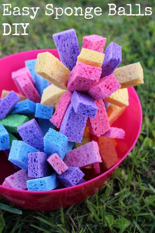 DIY sponge balls for kids