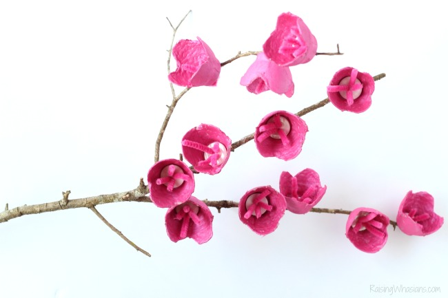 Easy cherry blossom craft