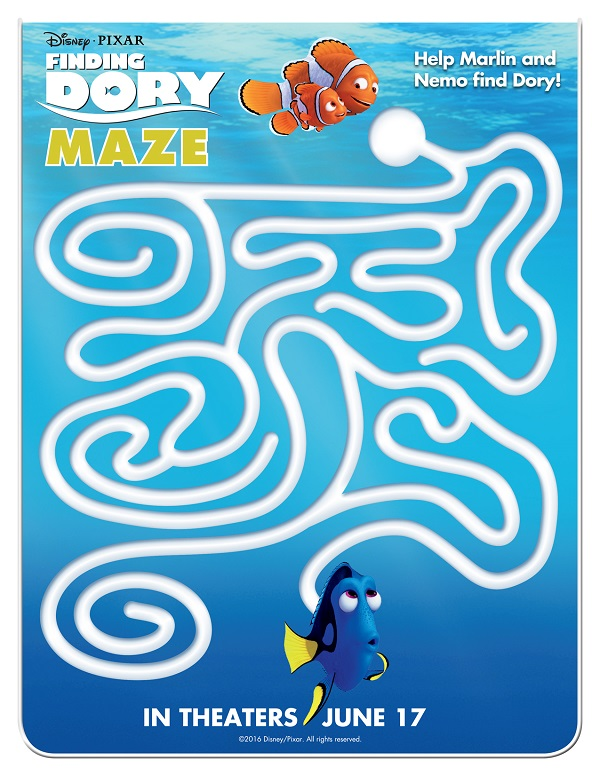 Free finding dory printable coloring sheets