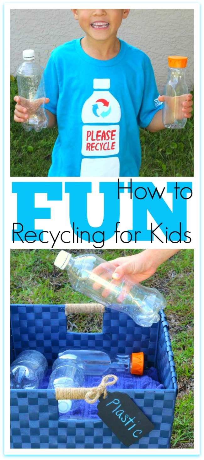 How to make recyclivng fun for kids diy recycle bins
