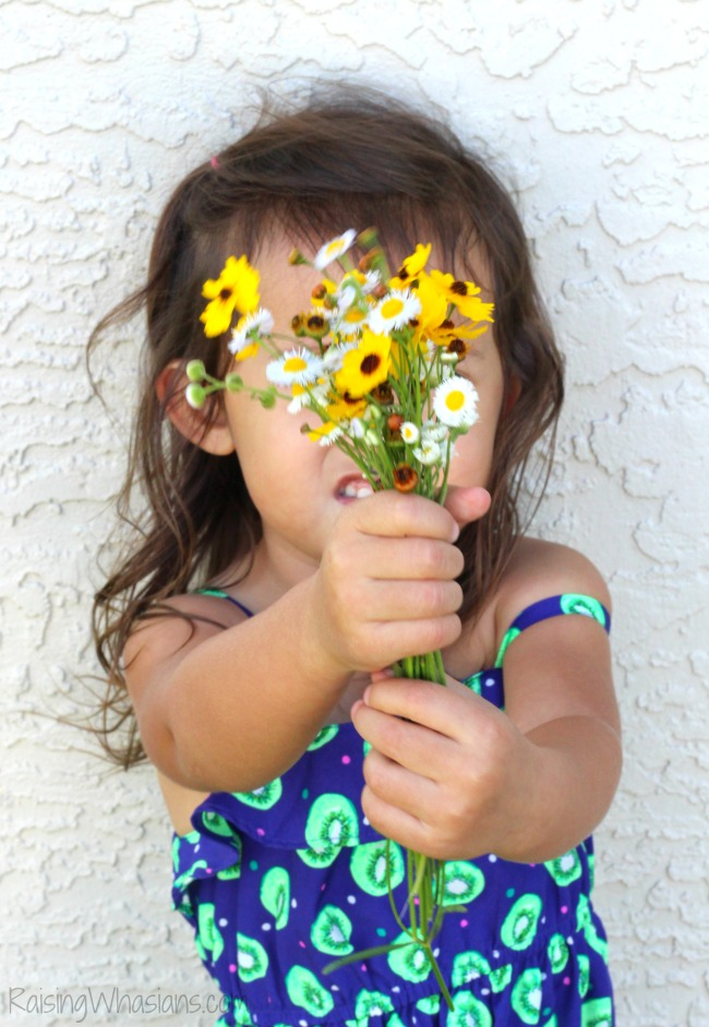 My wildflower toddler