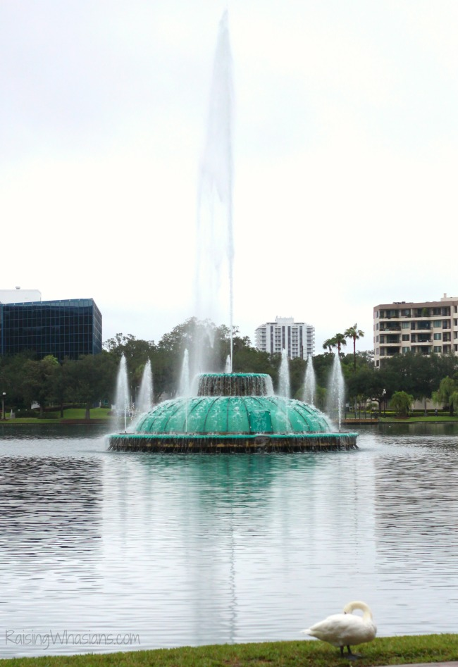 Orlando staycation ideas lake Eola