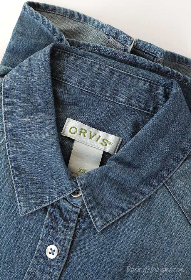 Orvis washed denim western shirt review