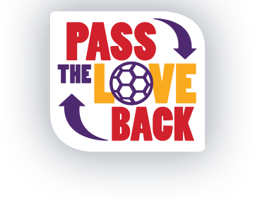 Pass the love back logo