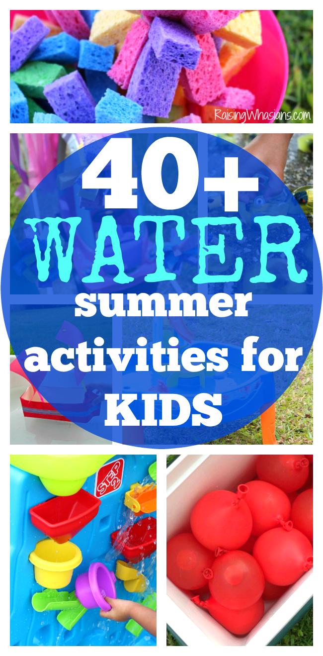 Water summer activities for kids list