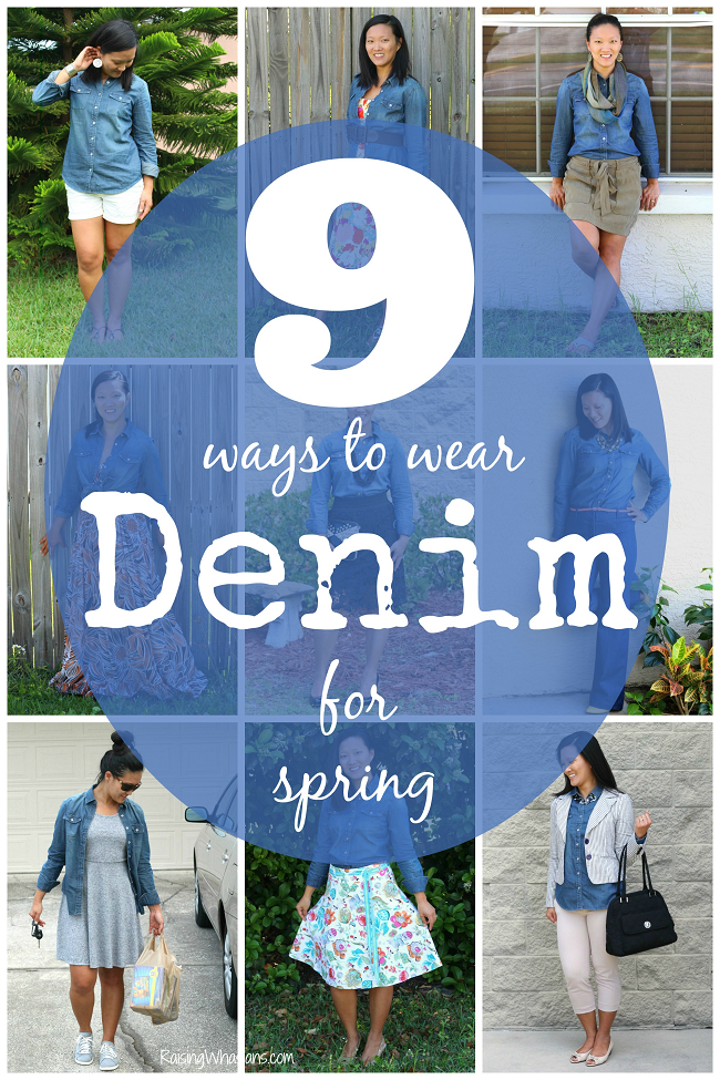 Ways to style a denim shirt for spring