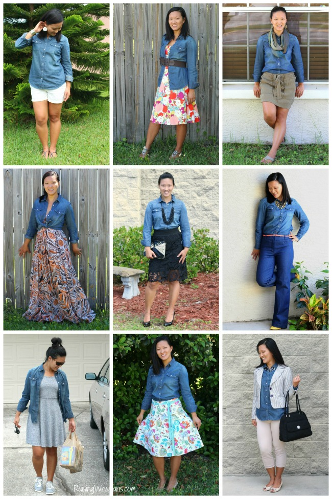 Ways to wear chambray for spring