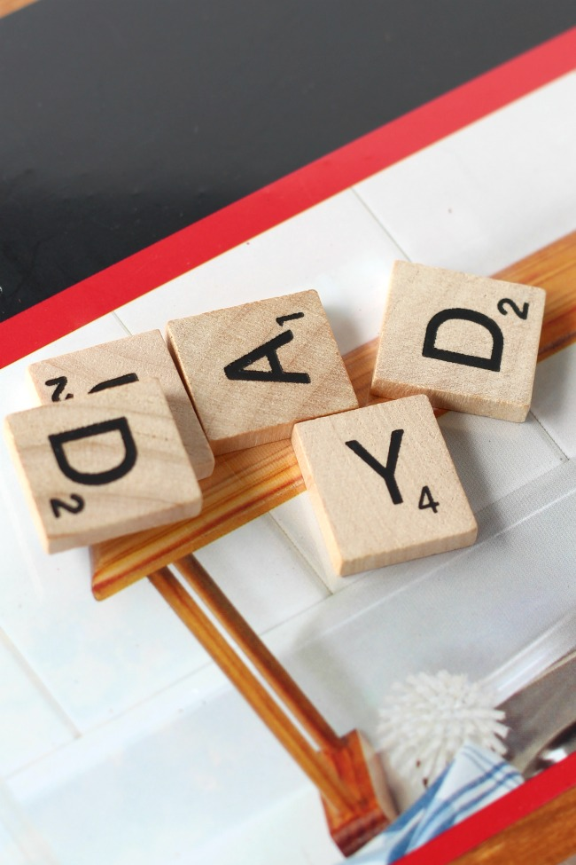 DIY fathers day art scrabble