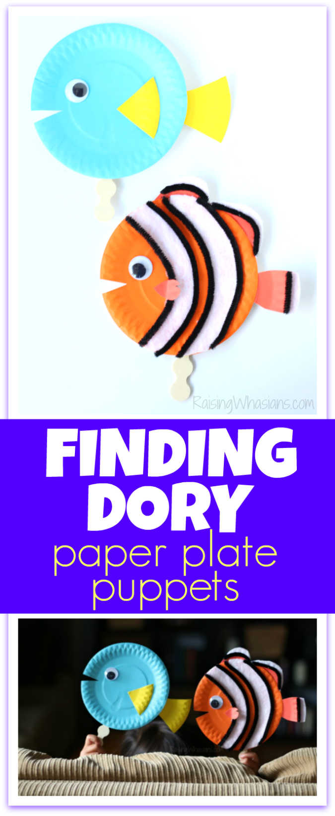 1bc2512c6de Finding Dory Craft Paper Plate Puppets  FindingDoryEvent