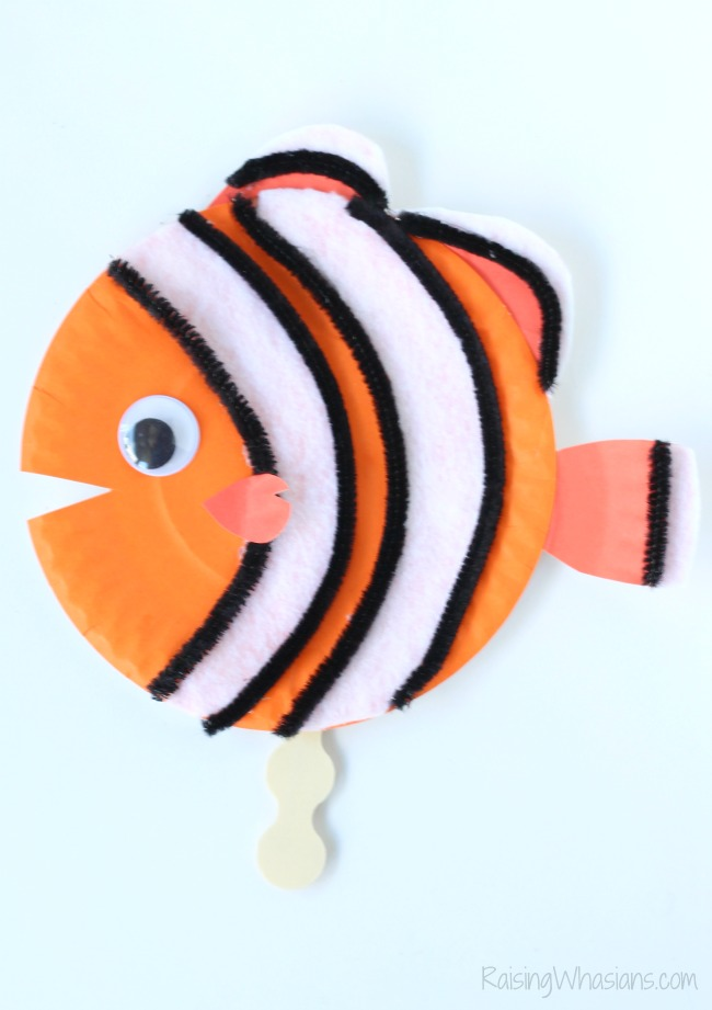 Finding Nemo paper plate craft