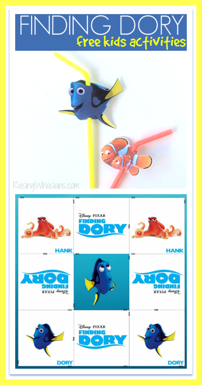 FREE Finding Dory Straw Topper Printable + Kids Activities