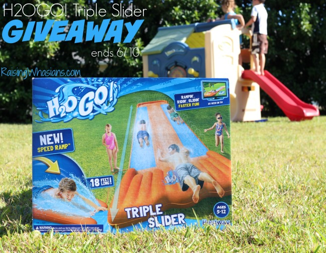 H2OGO water slide giveaway