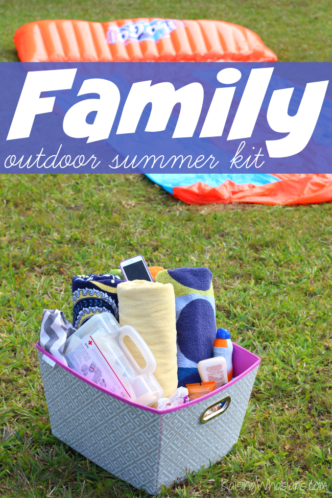 Outdoor summer kit for families