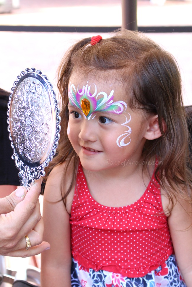 Pass the love back Orlando face painting