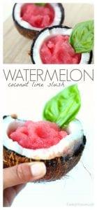 Watermelon coconut lime slush pinterest