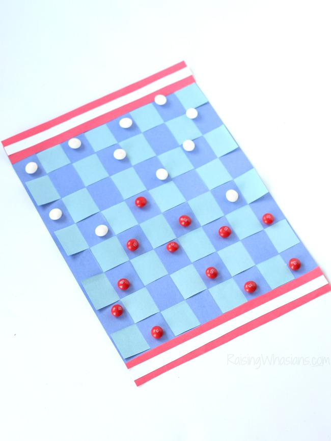 Checkerboard kids craft