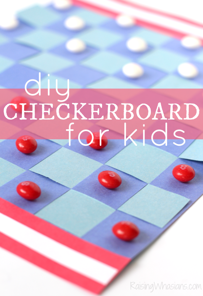 DIY checkerboard for kids americana inspired