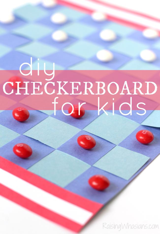 DIY checkerboard for kids americana inspired