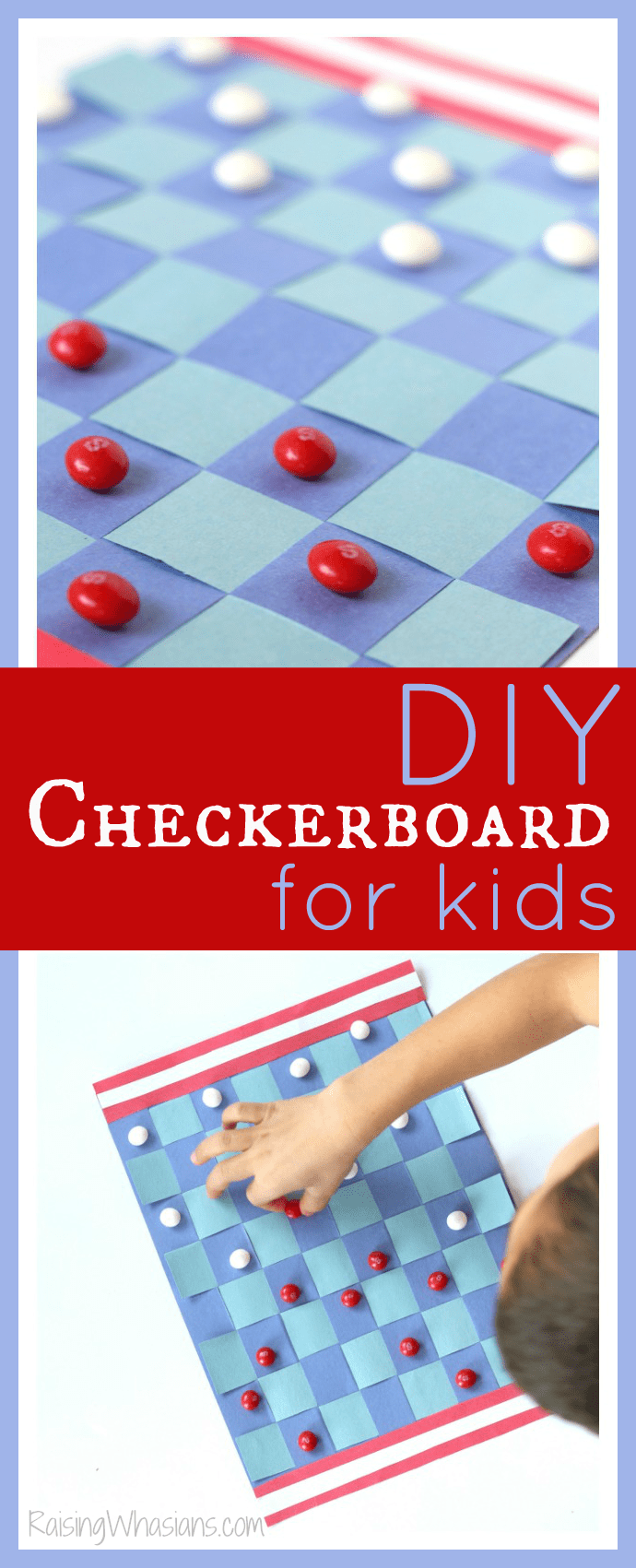 DIY checkerboard for kids pinterest
