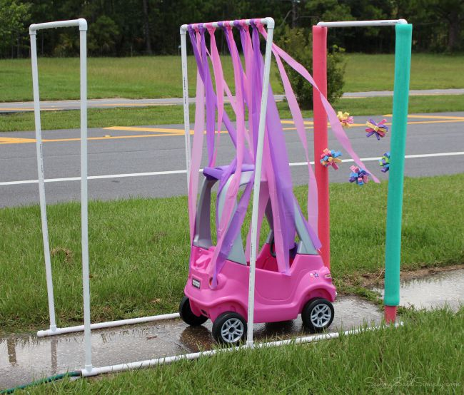 DIY kids car wash tutorial