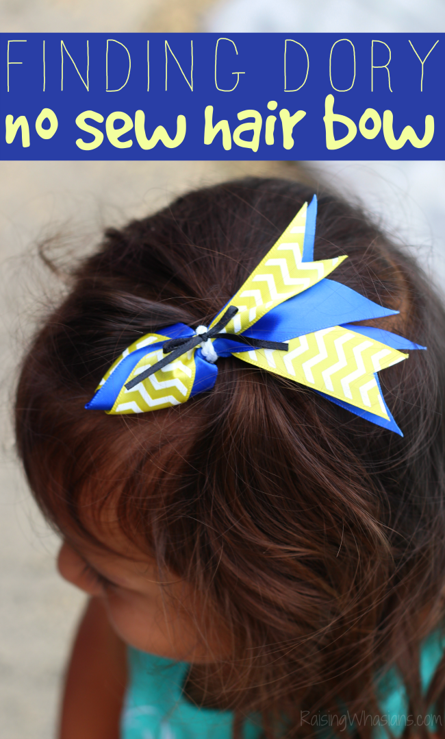 Finding Dory hair bow diy