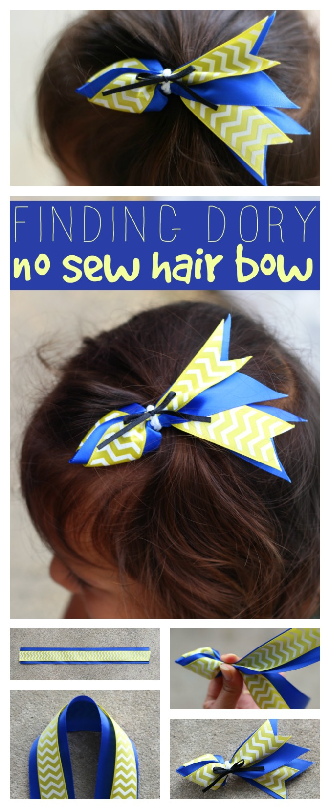 Finding Dory hair bow pinterest