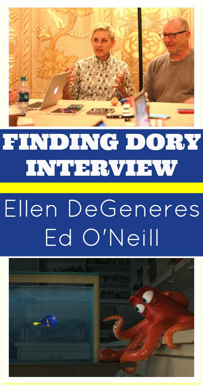 Finding Dory interview Ellen DeGeneres Ed O'Neill