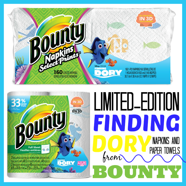 Bounty Paper Towels Fall Prints: Finding Dory Breakfast + 5 Reasons To Get New Bounty Prints