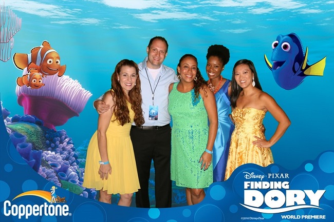 Finding Dory red carpet after party