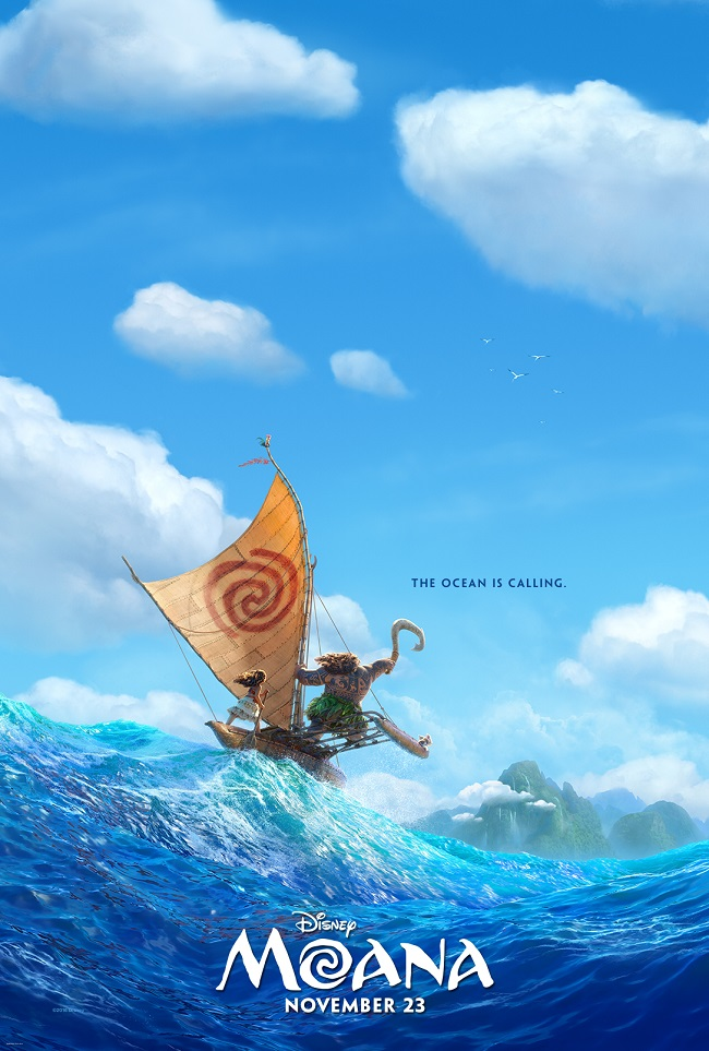 Moana movie poster teaser