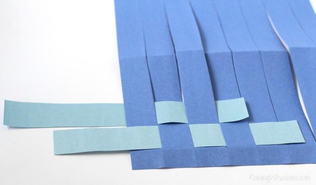 Paper weaving checkerboard