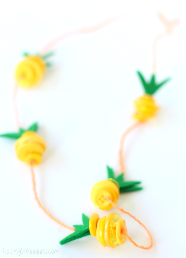 Pineapple kids craft